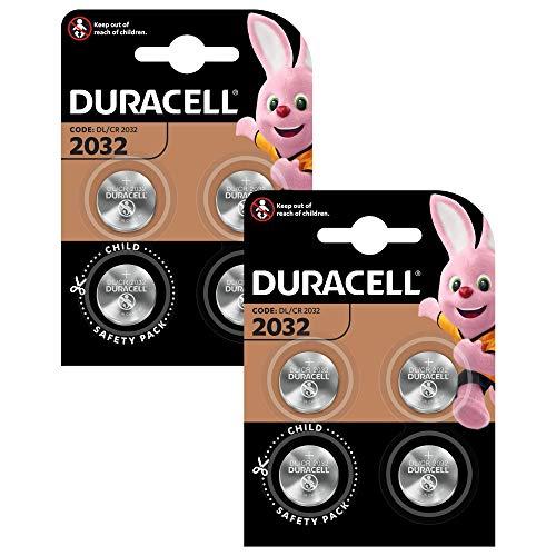 Duracell Specialty 2032 Lithium-Knopfzelle 3V, 8er-Packung (CR2032 /DL2032 entwickelt für die Verwendung in Schlüsselanhängern, Waagen, Wearables und medizinischen Geräten