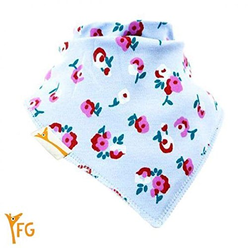 Blue Flowers In The Garden Bandana Bib