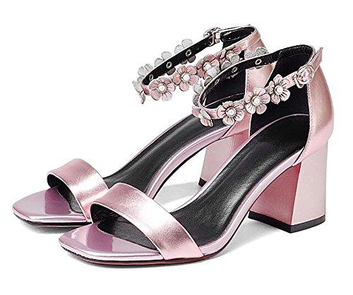 2017 nuovi sandali femminili di cuoio dei sandali di cuoio selvaggio dei sandali high-heeled open-toed del cuoio selvaggio 3