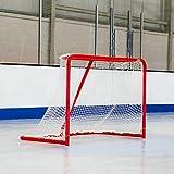 Eishockey Tore (1,8 m x 1,2 m) | HochWertige verzinkten StahlRahmen | Professionelles 5mm Eishockey Netz | Wahl der Regulierung oder professionelle Hockey Ziele (Professionelle)