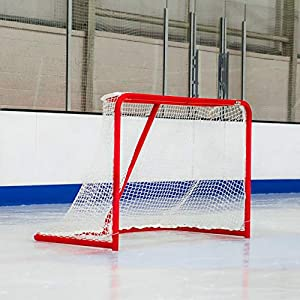 Eishockey Tore (1,8 m x 1,2 m) | HochWertige verzinkten StahlRahmen | Professionelles 5mm Eishockey Netz | Wahl der Regulierung oder professionelle Hockey Ziele