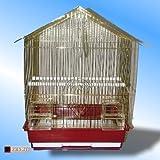 Jaula-de-Pjaros-Nina-en-oro-Finches-Canarias-Aves-pequeas