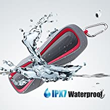 Waterproof IPX7 Wireless Bluetooth 4.1 Outdoor Speaker, Marine and Waterproof Bluetooth Speaker for iPhone, Android & iPod, Sandproof & Shockproof Outdoor Sport/Shower Speaker with Card Reader and Aux (Rosa)
