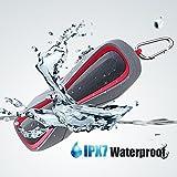 Enceinte Bluetooth, Haut-Parleur Stéréo Sans Fil Portable, Bluetooth 4.1 Outdoor Speaker Etanche, 15 Heures d'Autonomie en Lecture, Mains Libres Téléphone, Anti–Poussière, Anti-Déchirant, Carte TF Support, Compatible avec IPhone, IPad, Samsung etc