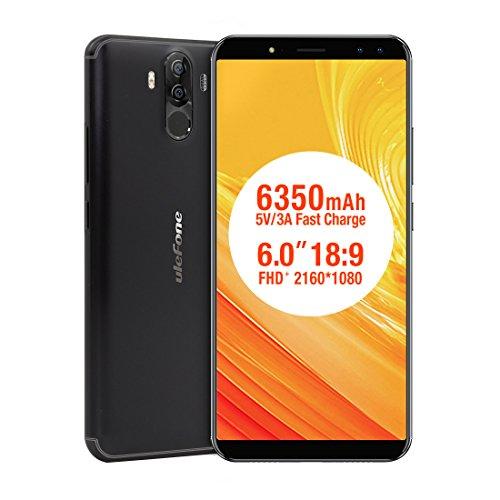 6350mAh cuádruple cámara Smartphone, Potencia 3S Octa-Core teléfono Celular 6.0'FHD Reconocimiento de rostros y...