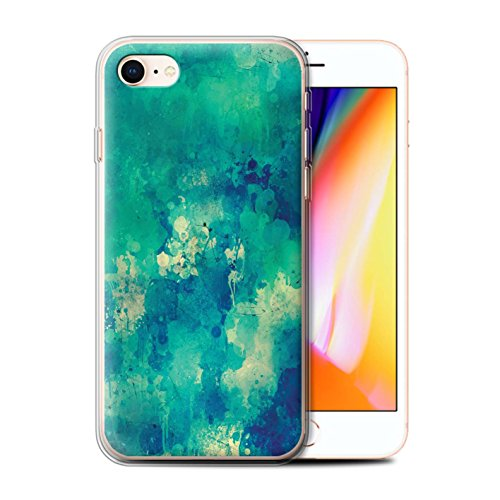 Stuff4 Gel TPU Hülle / Case für Apple iPhone 5/5S / Martini-Glas/Alkohol Muster / Teal Mode Kollektion Farbe/Chaos/Graffiti
