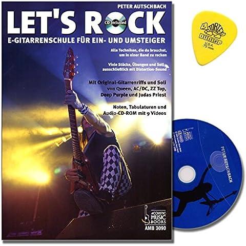 Let' s Rock per chitarra elettrica/Tab–Peter Autsch Bachs NUOVA SCUOLA DI chitarra con CD, tecniche werkplek–tutti i che ti serve per in una band un Battibaleno–molti pezzi, esercizi, soli e originale per chitarra Riffs - Acoustic Solo Tabs