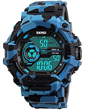 Randon Herren Military Digital Sport Armbanduhr für Herren Multifunktion Digital Sportuhr Herren Sportuhr mit...
