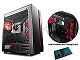 DEEPCOOL NEW ARK 90 Boîtier PC Gaming E-ATX/ATX/M-ATX/Mini-ITX (Fenêtré Moyenne Tour ATX) Noir