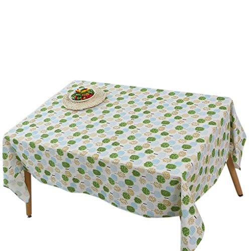 kakiyi 140x140cm Weihnachtsbaum/Baum Tischdecke Rechteckige Tischdecke Abdeckung für Heim Esstisch