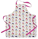 Beautiful CupCakes Design Ladies Apron - Made From 100% Cotton With Printed Cupcake Pattern - Ideal Gift Idea For Any Ladies Who Love To Bake