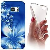 Samsung Galaxy Xcover 3 G388 Softcase Hülle Galaxy Xcover 3 G388 Cover Backkover Softcase TPU Hülle Slim Case für Samsung Galaxy Xcover 3 G388 (1020 Abstract Blume Blau)