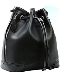 Kenoor Leather Drawstring Bucket Bag Retro Handbags Shoulder Bag Purses Crossbody Bags For Women With Long Shoulder...