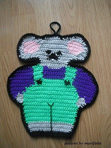 crochet hot pad doily mouse pattern nr 17: crochet hot pad doily mouse pattern nr 17 (English Edition)