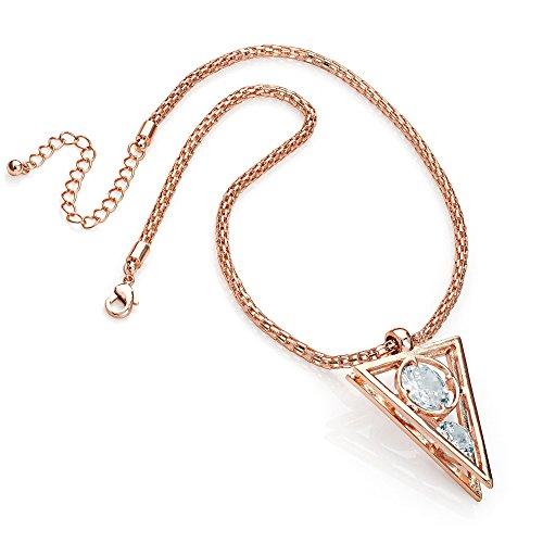 Gorgeous rose gold Kristall Halskette | auf Verkauf für £ 14,99| Dunkelviolett spart | 70%