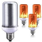 Lumiereholic Flamme E27 Lampe Flackernde Licht Effekt Feuer Glühbirne Wandleuchte Außenleuchte Flackerlicht für Haus Garten Bar Party Hochzeit Restaurant Valentinstag Deko (1 Stück)