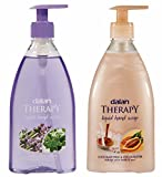 Dalan Therapy Liquid Soap Combo Pack of Lavender & Thyme and Chocolate Milk & Cocoa Butter 400ml (Pack of 2)