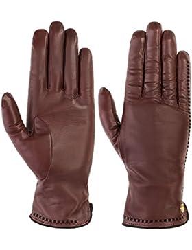 Roeckl Damen Handschuhe Klassiker Lederdurchzüge, Einfarbig