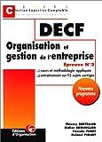 DECF. Organisation et gestion de l'entreprise. Epreuve n° 3