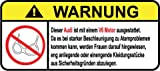 Audi V6 Motor German Lustig Warnung Aufkleber Decal Sticker