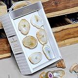 Casa D??cor White Luxurious Floral Design Natural Gem Stone Agate Knob(Set Of 6) - Multicolour, Standard Size
