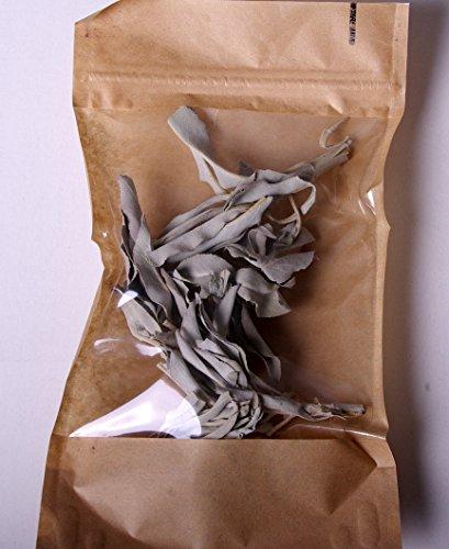 Premium Räucherkräuter von native Spirit, organisch und nachhaltig gewonnen - verpackt in einem sehr hochwertigen aromaschonenden Bag - zum Räuchern/Räucherwerk: (20gr, weißer salbei) -