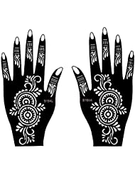 Set de 2Sheet mehndī Tattoo Pochoir S150pour les mains