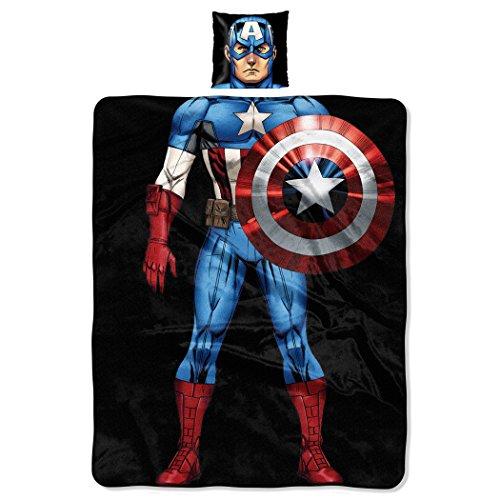 Northwest Marvel Captain America, als First Avenger den Charakter 27,9cm von 27,9cm Kissen und 101,6cm von 127cm Fleece Überwurf Set von The Company Captain Fleece