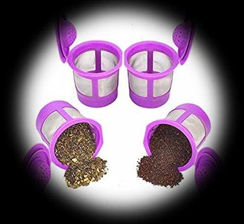 4Wiederverwendbare oder nachfüllbar k-cup 2.0Solo Filter Pod Kaffee Edelstahl Mesh für Keurig...