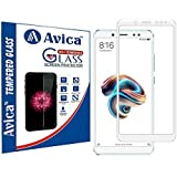 AVICA Edge To Edge Full Glue White 5D Curved Full Front Body Covered Tempered Glass Screen Protector For Xiaomi Redmi Note 5 Pro/Mi Note 5 Pro (2018)