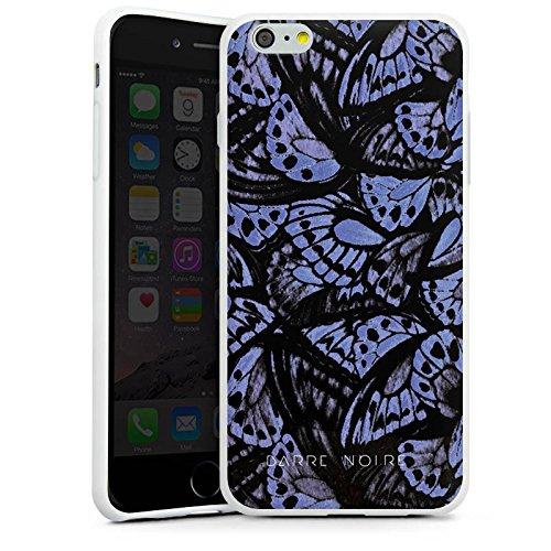 Apple iPhone X Silikon Hülle Case Schutzhülle Schmetterlinge Flügel Muster Silikon Case weiß