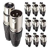 10 Pairs 3 Pin XLR Plugs Männlicher und weiblicher Mikrophone -Kabeladapter MIC Jack Connector Audio DMX Mixer Equipment Socket Repair Ersatz
