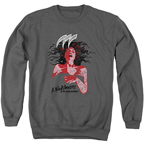 Nightmare On Elm Street - - Illustrierter europäischer Pullover für Männer, XXX-Large, Charcoal