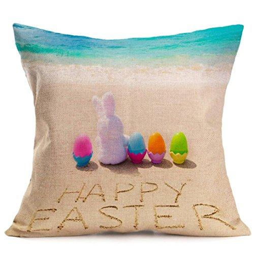 Jamicy Pasqua Festival divano-letto casa decorativo Ultra-velluto 45cm * 45 centimetri federa O