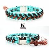 Paracord Halsband, geflochtenes Hundehalsband, geeignet für kleinere Hunde, Gravur möglich, Floating Colors