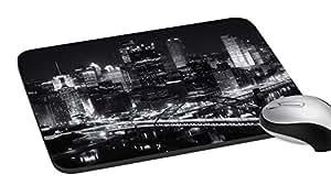 meSleep Anti-Skid Dark City Mouse Pad (7.2x8 inches)