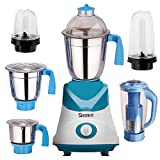 Sunmeet Blue Color 750Watts Mixer Grinder with 2 Bullet Jar plus 4 2019 But-Bl