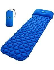 Acélane Matelas Autogonflants Coussin camp air gonflable léger dormer matelas avec oreiller compact pour camping randonnée