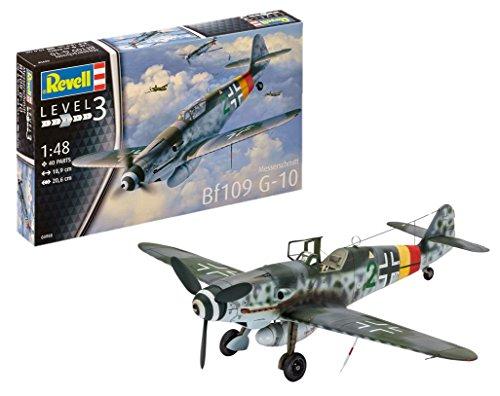 Revell 03958 Modellbausatz Messerschmitt Bf109 G-10 im Maßstab 1:48, Level 3