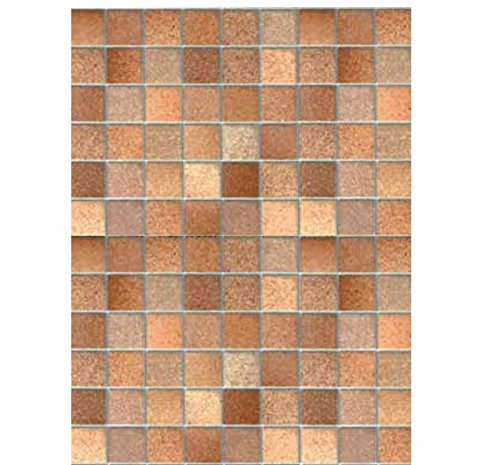Klebefolie - Möbelfolie Fliesen Look Toskana braun Dekorfolie 45 cm x 200 cm Designfolie Selbstklebende Folie mit Dekor - Selbstklebefolie (Brown Marmor Fliesen)