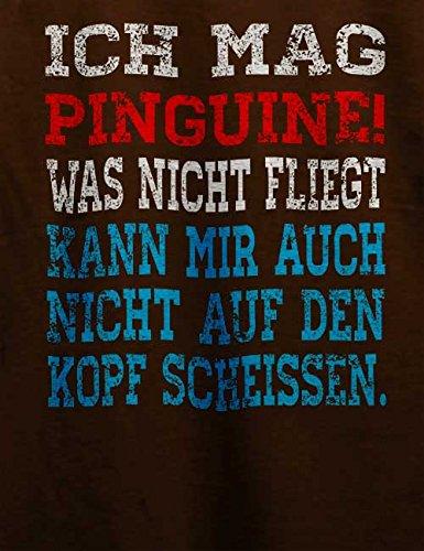 Ich Mag Pinguine T-Shirt Braun