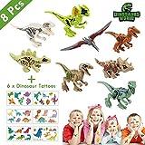 Lehoo Castle Mini juguetes para dinosaurios 8 paquetes, bloques de...
