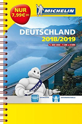 Preisvergleich Produktbild Michelin Kompaktatlas Deutschland 2018 / 2019 (MICHELIN Atlanten)