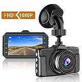 CHORTAU Caméra Embarquée Voiture 1080P FHD 3 Pouces Caméra de Voiture Grand Angle de 170°, Dashcam Voiture Avec Mode de Stationnement, Détection de Mouvement, Enregistrement en Boucle