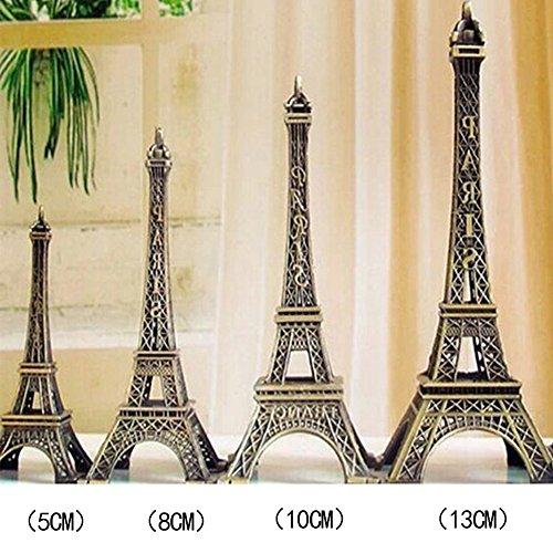 SUPEWOLD Fashion Eiffelturm Decor Bronze Big Paris Eiffelturm Mittelpunkt für Kuchen Topper, Geschenke, Party und Home Dekoration (Höhe: 5cm/8cm/10cm/13cm), Bronze, 5 cm