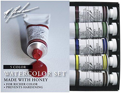 M. Graham 30ml Tube Watercolour Paint Basic 5-Colour Set