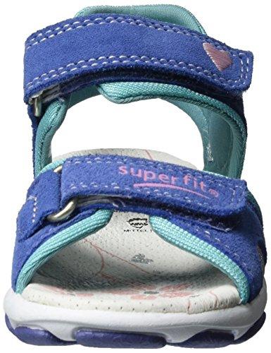 Superfit Nelly 1, Sandales  Bout ouvert fille Bleu (lila Multi)