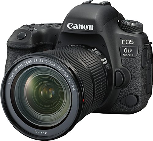 Canon EOS 6D Mark II 26.2MP Digital SLR Camera with EF24-105 mm f/4L is II USM Lens