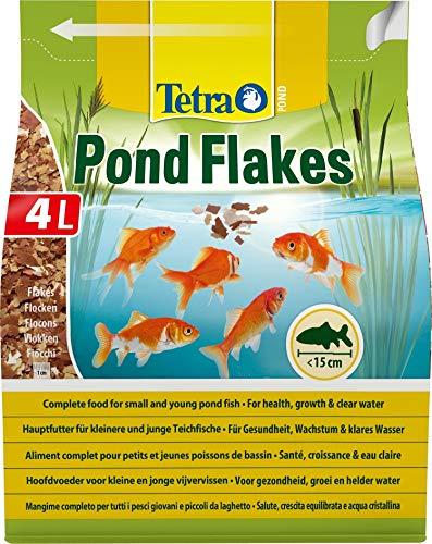 Tetra Pond Flakes - Fischfutter für kleinere und junge Teichfische in Flockenform, für eine abwechslungsreiche und ausgewogene Ernährung, verschiedene Größen