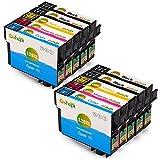 Gohepi Kompatible Patronen Ersatz für Epson T1285 (T1281 T1282 T1283 T1284) Tintenpatronen Hohe Kapazität für Epson S22 SX125 SX130 SX230 SX235W SX420W SX425W SX430W SX440W SX445W BX305F